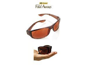 HD Vision Fold Aways High Definition Sunglasses Deluxe- Single (Tortoise