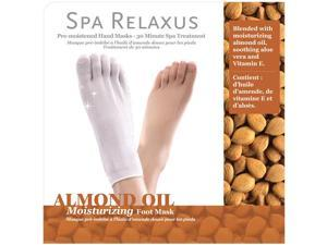 Spa Relaxus Almond Oil Foot Mask This product offers intense moisture treatment helps to revitalize dry, rough, overworked feet. Enriched with soothing Almond Oil.