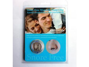 Relaxus Snore Free Magnetic Nose ClipThe Snore Free Magnetic Nose Clip is a small Clip with two magnets. The clip is attached to the nose and fits comfortably.