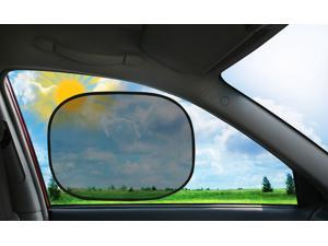 Ideaworks Instant Cling Sun Shade (set of 2)No suction cups! Sticks on Window! Made with anti-UV treatment. Easily folds for storage.