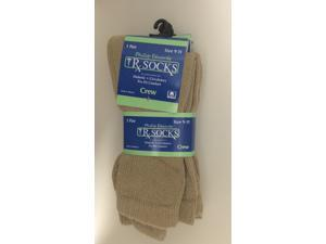 Phillips Edward Diabetic Crew Socks Sand 3pack (sizes 10-13) Phillips Edward Diabetic Crew Socks are made with comfort in mind.
