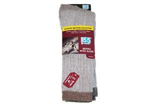 Extreme Weather Thermal Insulating Merino Wool Socks by Excell 2pck(Mens 8-12)