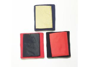 The Monkey Pocket, Sports Wristband Wallet Medium (Black with Red Pouch)