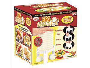 Eggstractor Egg Peeler, White