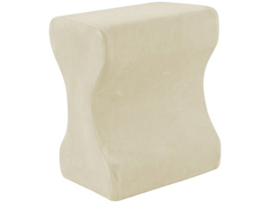 Contour Memory Foam Leg Pillow with Cover, Ecru/Cream