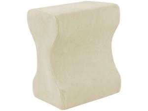 Contour Memory Foam Leg Pillow with Cover, Ecru/Cream