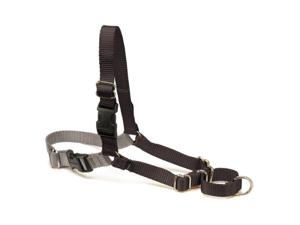 Premier Easy Walk Dog Harness, Black with Grey, Small