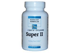 Harmony Formulas - Super II - Unclog Your Colon - Professional Strength -150 Tablets
