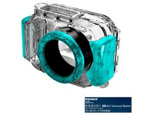 Kamera 800 in 1 Universal Underwater Diving Camera Waterproof Case Housing Shell-Blue