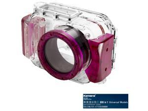 Kamera 800 in 1 Universal Underwater Diving Camera Waterproof Case Housing Shell-Purple