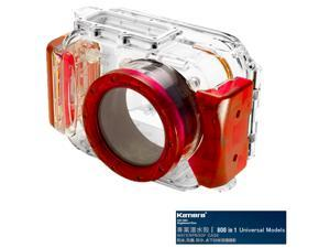 Kamera 800 in 1 Universal Underwater Diving Camera Waterproof Case Housing Shell-Red