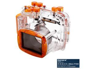 Kamera Underwater Diving Camera Waterproof Case Housing Shell For Nikon P7000 (Orange)