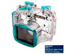 Kamera Underwater Diving Camera Waterproof Case Housing Shell For Nikon P7100 (Blue)