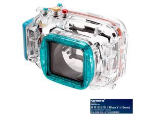 Kamera Underwater Diving Camera Waterproof Case Housing Shell For Nikon V1 (10mm) Blue