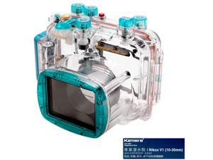 Kamera Underwater Diving Camera Waterproof Case Housing Shell For Nikon V1 (10-30mm) Blue