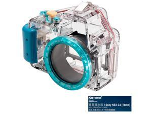 Kamera Underwater Diving Camera Waterproof Case Housing Shell For Sony NEX-C3 (16mm) Blue