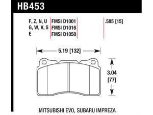 Hawk Performance HB453B.585 Disc Brake Pad