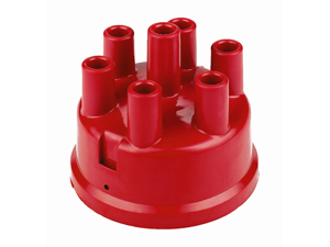 Mallory 270 Distributor Cap&#59; 6 Cylinder&#59; Mallory Series YL Vented/Non-Flame Arrested&#59; 23/24/27/45/46/47/50/57/60&#59; Red&#59;