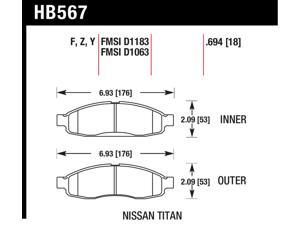 Hawk Performance HB567Y.694 Disc Brake Pad