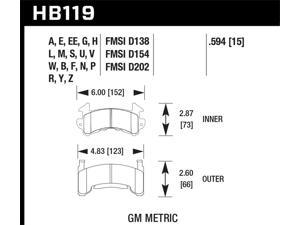 Hawk Performance HB119M.594 Disc Brake Pad
