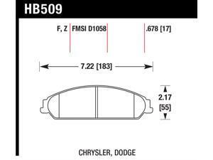 Hawk Performance HB509R.678 Disc Brake Pad