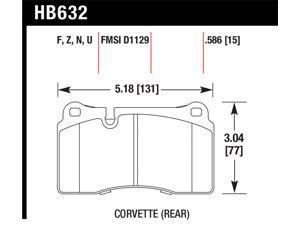 Hawk Performance HB632F.586 Disc Brake Pad