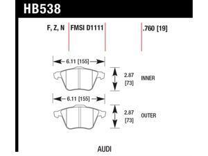 Hawk Performance HB538Z.760 Disc Brake Pad