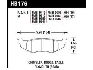 Hawk Performance HB176B.614 Disc Brake Pad