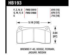Hawk Performance HB193N.670 Disc Brake Pad