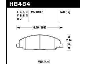 Hawk Performance HB484B.670 Disc Brake Pad 05-14 Mustang