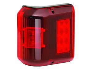Clearance Light, LED, Wrap-Around, Red w/Black Base