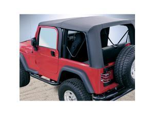 Rugged Ridge 13729.35 XHD Soft Top, Black Diamond, Clear Windows, 97-06 Jeep Wrangler TJ