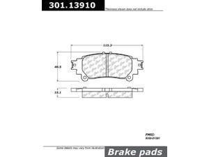 Centric (301.13910) Brake Pad, Ceramic
