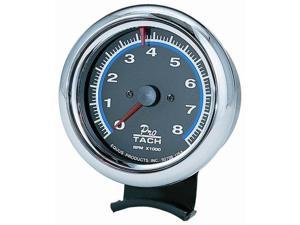 Equus 6078 Chrome Bezel Tachometer - Measures 3 3/8-Inches