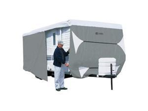 Classic Accessories Travel Trailer Rv Cover PolyPro 111 Deluxe 22 x 24 Grey 73363