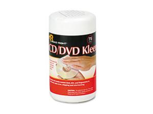 CD/DVD Kleen Cleaner Wet Wipes 5 1/4 x 5 3/4 75/Tub