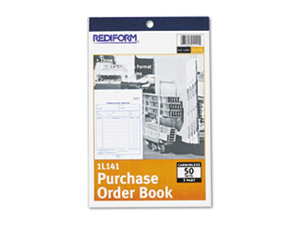 Purchase Order Book Bottom Punch 5 1/2 x 7 7/8 3-Part Carbonless 50 Forms