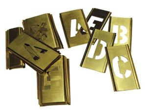 Brass Stencil Letter Set