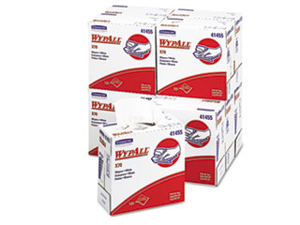 WYPALL X70 Wipers, POP-UP Box, 9 1/10 x 16 4/5, White, 100/Box, 10/Car