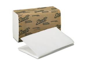 SCOTT 1-Fold Paper Towels, 9 3/10 x 10 1/2, White, 250/Pack, 16/Carton
