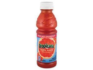 100% Juice, Ruby Red Grapefruit, 10Oz Plastic Bottle, 24/Carton