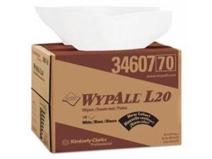 WYPALL L20 Wipers, BRAG Box, 12 1/2 x 16 4/5, Four-Ply, White, 176/Box