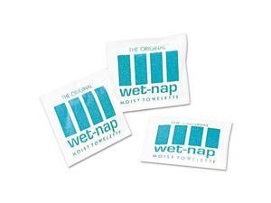 Wet-Nap Premoistened Towelettes 5 x 7 3/4 White 100/Pack 10 Packs/Carton