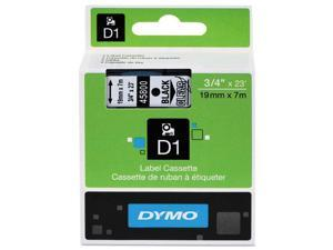 D1 Standard Tape Cartridge For Dymo Label Makers, 3/4In X 23Ft, Black