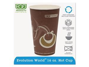 Eco-Products Evolution World 24% PCF Hot Drink Cups, 16 oz., Purple, 1000/Carton