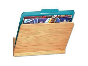 Wood Wall File Pocket, Legal/Letter, Oak