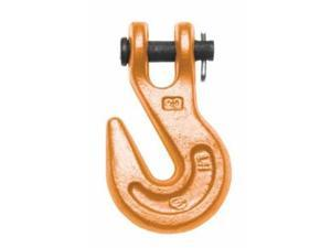 """473  Series Clevis Grab Hooks Size 3/8"""" Painted Orange Finish"""