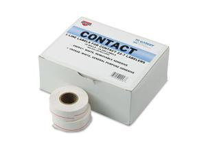 One-Line Pricemarker Labels 7/16 x 13/16 White 1200/Roll 16 Rolls/Box