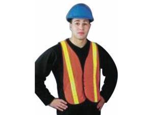 Hi-Viz Lime Polyester Mesh Traffic Vest