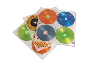 Two-Sided Cd Storage Sleeves For Ring Binder, 25/Pack